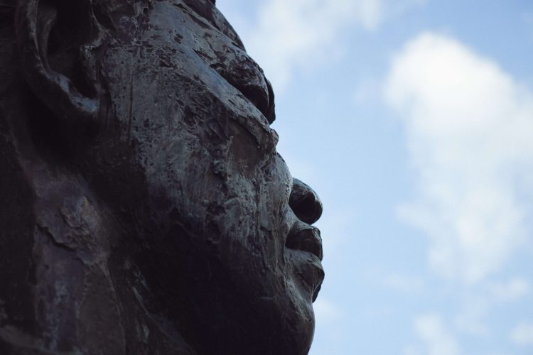Sideview of Bust of Nelson Mandela