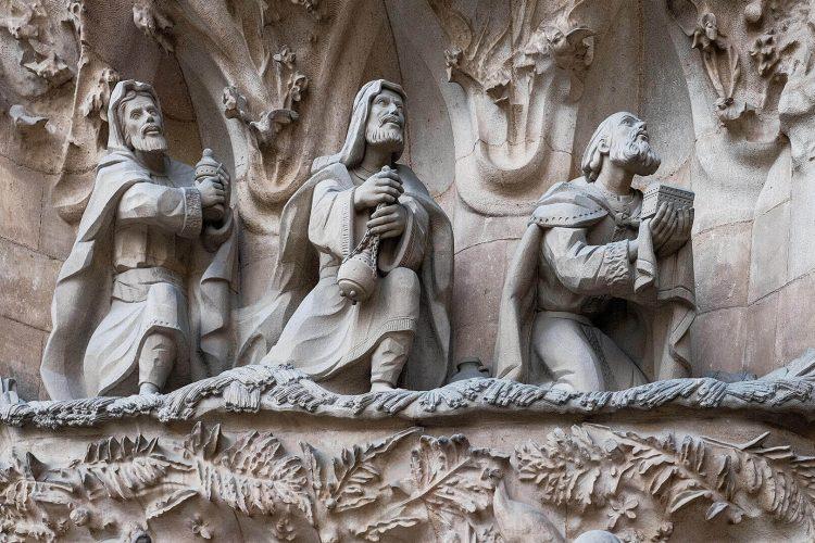 Tres Reyes Magos, Sagrada Familia, Barcelona, España, April 2019 (Jose Ignacio Pompe)