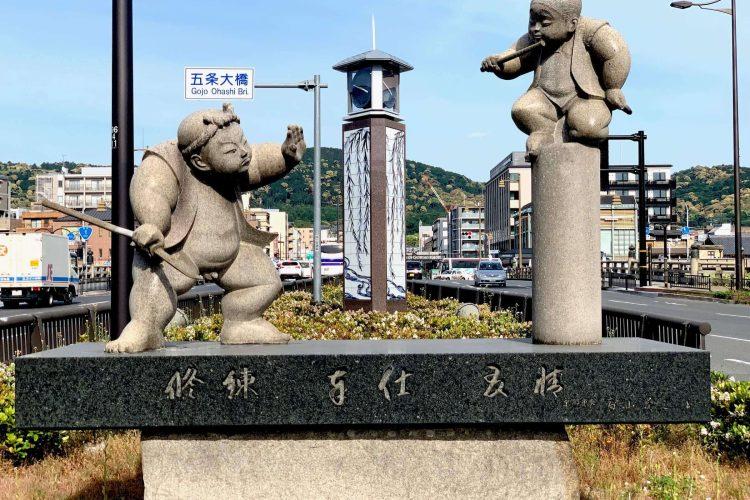 Minamoto no Yoshitsune Fights Benke, Gojo Ohashi Bridge, Kyoto, Japan, June 2019 (Andres Lyu)